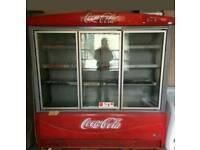 Three door coke fridge