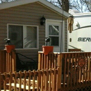 TRAILER  SOLD   Cabanna , deck and Shed Available Rent Paid 6/18