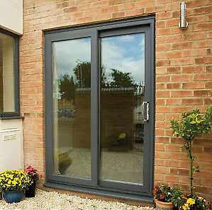New anthracite upvc patio door window in craigleith for Upvc french doors grey