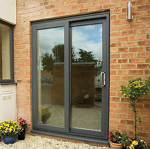 New anthracite upvc patio door window in craigleith for Brown upvc patio doors
