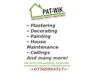 Property Maintenance - Plastering / Painting / Ceilings / ALL OTHER JOBS!