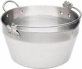 Kitchen Craft Stainless Steel MASLIN Pan. For making jam, marmalade & chutney. Use as stockpot too.