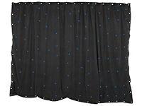 QTX Blue LED Starcloth light curtain 3mx2m