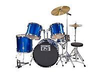 Session Pro 5 Piece Electric Blue Drum Kit