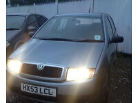 SKODA FABIA 1.2 2003. 11 MONTHS MOT. SILVER. NICE. AIR CONDITIONING