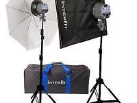Interfit EX150 home studio flash kit + IR Flash Transmitter