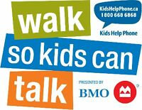 Volunteers for Kids Help Phone's Annual Walk so Kids Can Talk