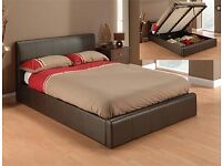 King size gas lift bed
