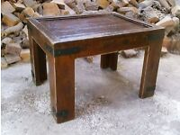Heavy Rustic Wood and Iron Table / Coffee Table / Gothic