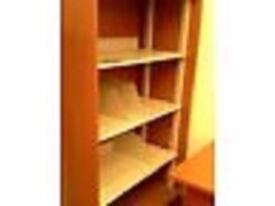 Quality 3 Shelf Metal & Wood Storage/Bookcase on Wheels