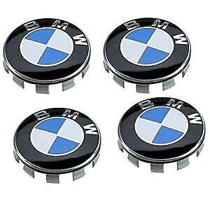 BMW ALLOY WHEEL CENTRE HUB CAPS E30,E36,E46,E92 1,3,5,6,7,X5 X6 M3 M5 M6 Z4 68mm