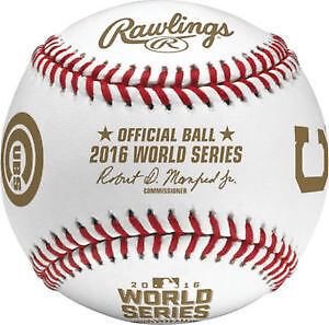 2016 Rawlings Official MLBWS Dueling Baseball Cubs vs  Cleveland
