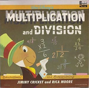 Walt Disney's Multiplication And Division Vinyl LP 1969 Kingston Kingston Area image 1