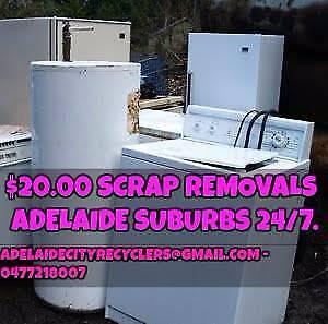 $20 SCRAP REMOVED FAST Adelaide Cbd Suburbs Rural