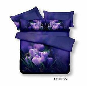 **BRAND NEW** KING - 3 Piece Purple Tulip Quilt Cover Set-Post$15 Rooty Hill Blacktown Area Preview