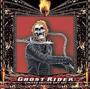 """GHOST RIDER""  Limited Edition Gift Set-DVD & Figurine-NEW!!!"