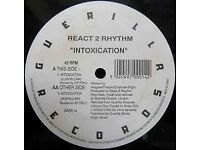 React 2 Rhythm ‎– Intoxication 1991 Vinyl LP