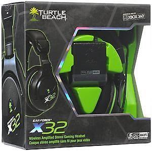 Turtle Beach X32 Xbox 360 Wireless Headset Mint condition
