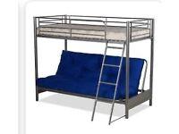 Bunk bed - double & single (futon type)