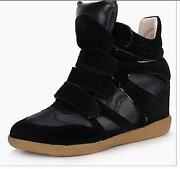 Velcro Strap High-top Sneakers