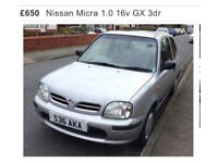 Nissan Micra Excellent Bargain Silver S Plate perfect for learner.