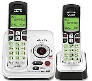 2  V-TECH CORDLESS HOME PHONES WITH ANSWERING SYSTEM