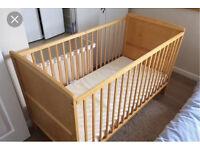 Kiddicare cot and mattress