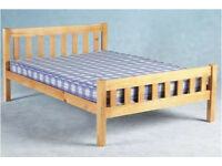Solid wood king size bed frame
