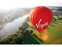 VIRGIN NATIONAL ANYTIME 7 DAY PLUS HOT AIR BALLOON RIDE FOR 2/VALID TILL 24/8/18