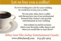 DJ for weddings and marriage officiant to marry you