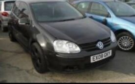 Volkswagen Golf s80 2008 reg for sale - fully drives but needs work