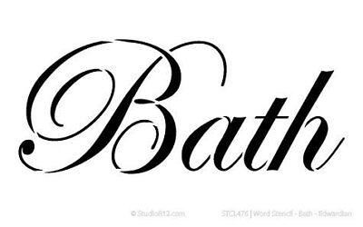 Word Stencil - Bath - Edwardian