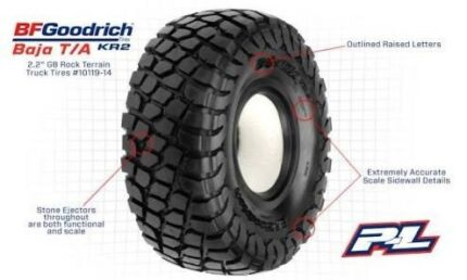 NEW!!! Pro-Line BFGoodrich Baja kr2, Crawler Tires.