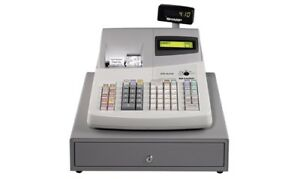 Sharp ER A410 cash Register twin Thermal, used,keys, manuals,box