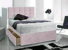 💚💚Brand New Crushed Velvet Beds and Mattresses. Available separately💚