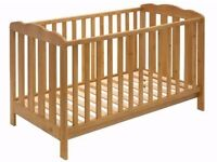 Immaculate cotbed and mattress