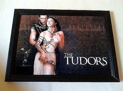 "THE TUDORS CAST X2 PP SIGNED & FRAMED 12"" X 8"" POSTER JONATHAN RHYS MEYERS"