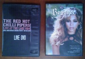 The Red Hot Chilli Pipers & Beyonce DVD's