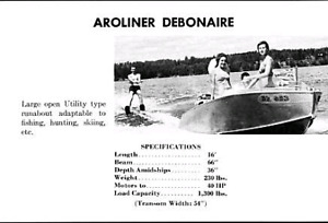 Aroliner Debonaire 16ft Alum Boat + 25hp Evinrude and trailer