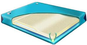 95% WAVELESS LUMBAR REPLACEMENT BLADDER for QUEEN SIZE 60/80 SOFTSIDE WATERBED