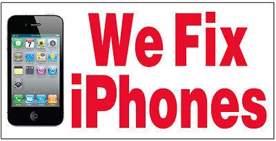 We Fix Iphones Vinyl Banner Sign Repair 2x4 Ft Wb