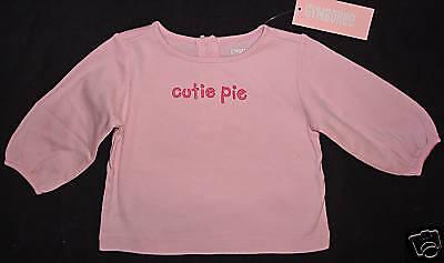 Gymboree NWT Argyle Animals Pink Cutie Pie Top Shirt 3-6 months - Cutie Pie Top Shirt