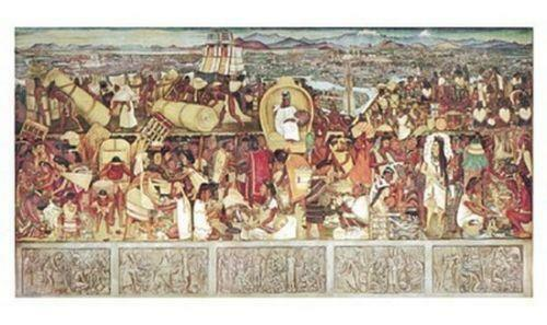Diego rivera art from dealers resellers ebay for Diego rivera la conquista mural
