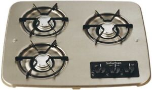 Gas Cooktop / Suburban 2938AST 3-Burner Stainless / BRAND NEW