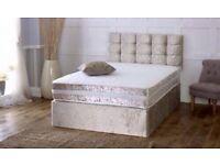 DIVAN BED SET COMPLETE WITH MATTRESS & HEADBOARD