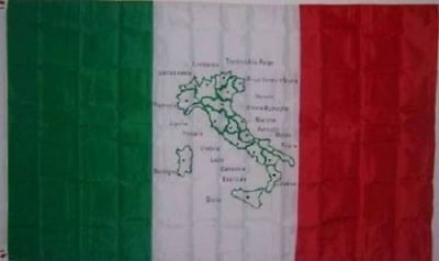 3x5 Italy with Italian Map Flag Country Banner Pennant New