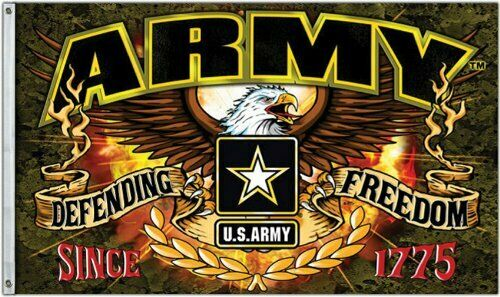 Army Defending Freedom 3x5FT Flag US United States Military