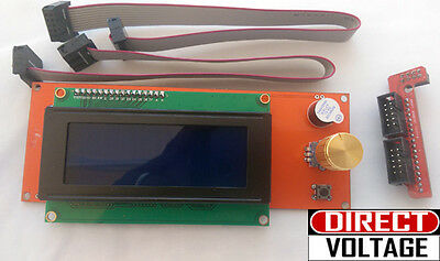 Reprap RAMPS1.4 2004 LCD display controller with adapter Mendel,Prusa 3D Printer