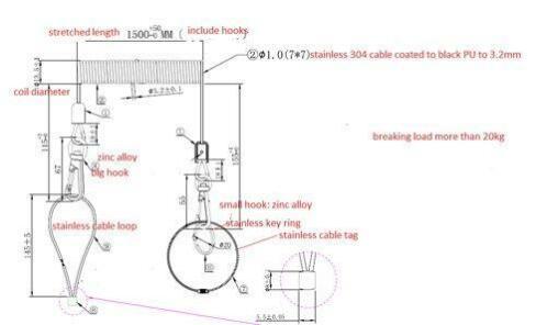 Uittrekbare Staalkabel Tot 1500mm Multi Ijzerwaren En