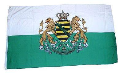 Flagge / Fahne Königreich Sachsen Wappen Hissflagge 90 x 150 cm